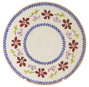"Nicholas Mosse 9"" Footed Cake Plate Clematis"