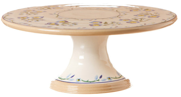 "Nicholas Mosse 9"" Footed Cake Plate Forget Me Not"