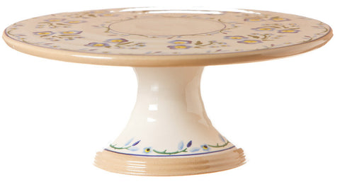 "9"" FOOTED CAKE PLATE FORGET ME NOT"