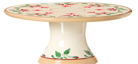 "9"" FOOTED CAKE PLATE FUCHSIA"