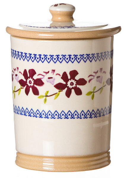 SMALL STORAGE JAR (1LB) CLEMATIS
