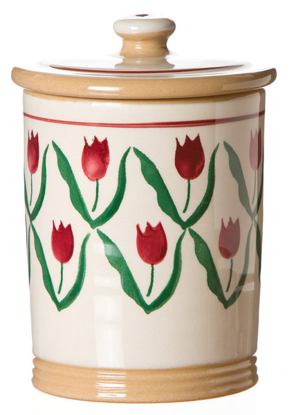 SMALL STORAGE JAR (1LB) RED TULIP