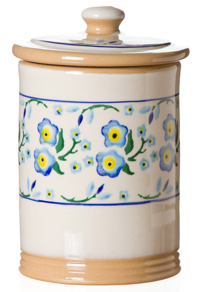 SMALL STORAGE JAR (1LB) FORGET ME NOT