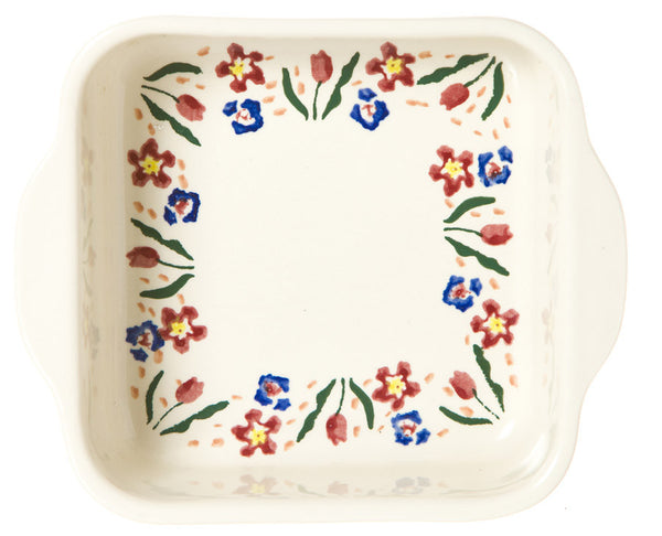 SMALL SQUARE OVEN DISH WILD FLOWER MEADOW