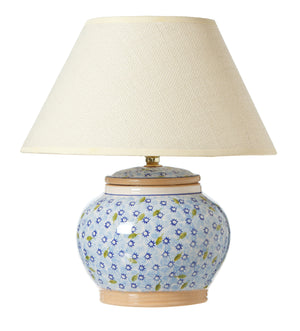 5 Inch Lamp Light Blue Lawn spongeware by Nicholas Mosse Pottery - Ireland - Handmade Irish Craft
