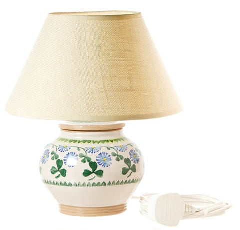 5 inch lamp Clover spongeware pottery by Nicholas Mosse Pottery - Ireland - Handmade Irish Craft