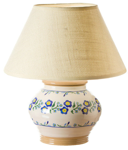 5 inch lamp Forget Me Not spongeware pottery by Nicholas Mosse Pottery - Ireland - Handmade Irish Craft.