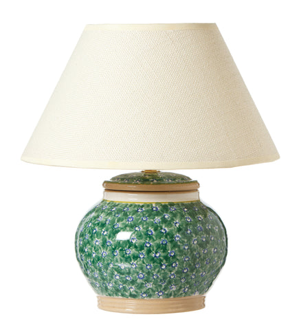 5 inch lamp Lawn Green spongewre pottery by Nicholas Mosse Pottery - Ireland - Handmade Irish Craft