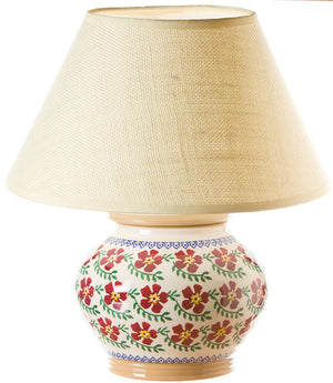 5 inch lamp Old Rose spongeware pottery by Nicholas Mosse Pottery - Ireland - Handmade Irish Craft.