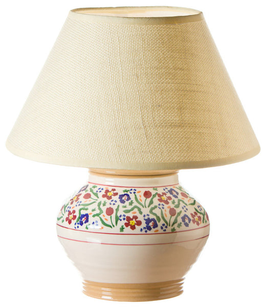 5 inch lamp Wild Flower Meadow spongeware pottery by Nicholas Mosse Pottery - Ireland - Handmade Irish Craft.
