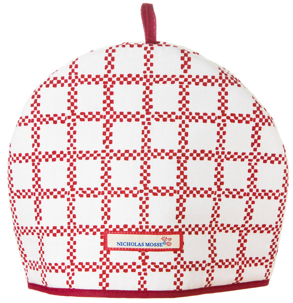 TEA COSY RED CHECK