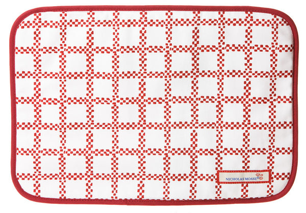 PLACEMAT RED CHECK