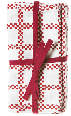 NAPKINS RED CHECK