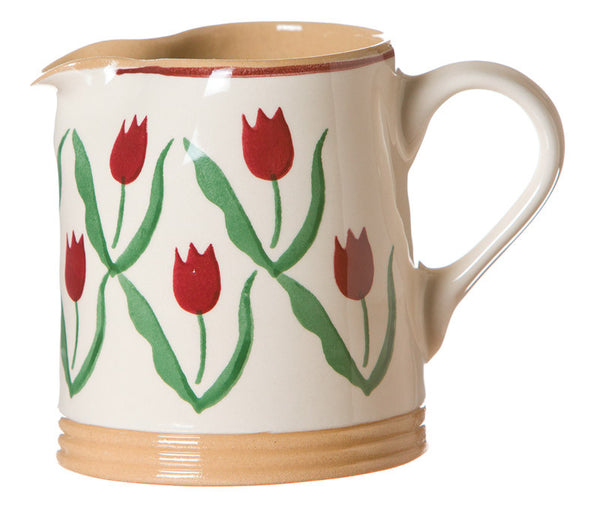 SMALL CYLINDER JUG RED TULIP
