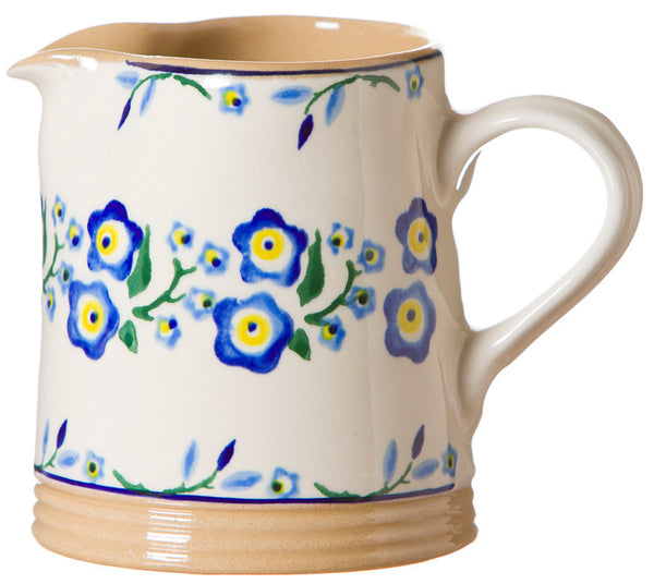 Nicholas Mosse Small Cylinder Jug Forget Me Not
