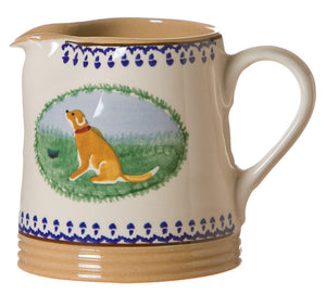 Small Cylinder Jug Dog spongeware pottery by Nicholas Mosse, Ireland - Handmade Irish Craft - nicholasmosse.com