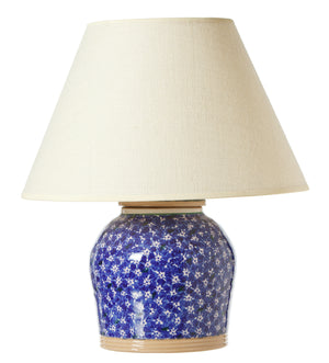 7 Inch Lamp Dark Blue Lawn spongeware by Nicholas Mosse Pottery - Ireland - Handmade Irish Craft