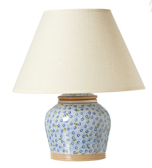 7 Inch Lamp Lawn Light Blue spongeware by Nicholas Mosse Pottery - Ireland - Handmade Irish Craft