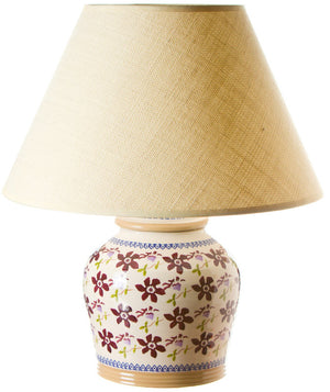 7 inch lamp Clematis spongeware pottery by Nicholas Mosse Pottery - Ireland - Handmade Irish Craft.