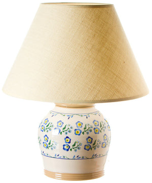 7 inch lamp Forget Me Not spongeware pottery by Nicholas Mosse Pottery - Ireland - Handmade Irish Craft.