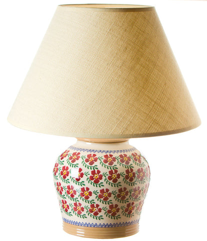 7 inch lamp Old Rose spongeware pottery by Nicholas Mosse Pottery - Ireland - Handmade Irish Craft.