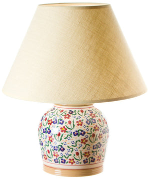 7 inch lamp Wild Flower Meadow spongeware pottery by Nicholas Mosse Pottery - Ireland - Handmade Irish Craft.