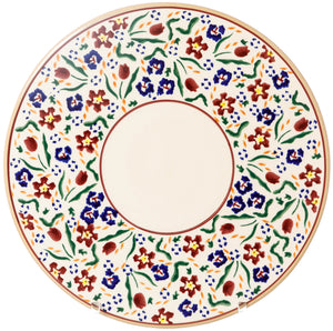 "9"" Cake Plate Wild Flower Meadow top view Nicholas Mosse Pottery handcrafted sponge ware Ireland"