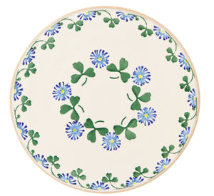 "Nicholas Mosse 9"" Footed Cake Plate Clover"