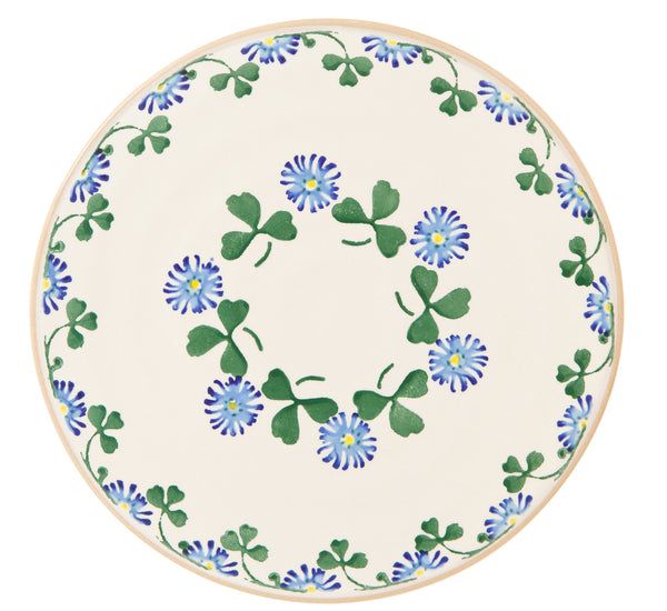 "9"" Footed Cake Plate Clover"