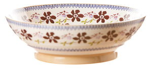 Fruit bowl Clematis spongeware pottery by Nicholas Mosse Pottery - Ireland - Handmade Irish Craft