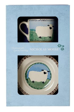 Box Set Small Mug and Tiny Plate Sheep