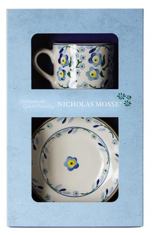Box Set Small Mug and Tiny Plate Forget Me Not