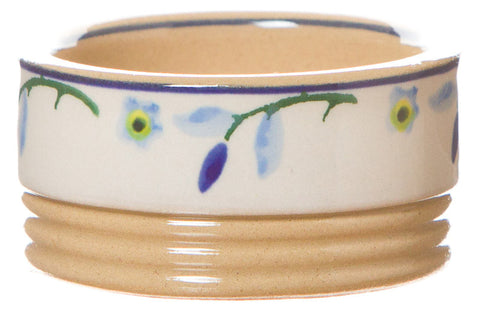 Butterpat Forget Me Not spongeware pottery by Nicholas Mosse Pottery - Ireland - Handmade Irish Craft.