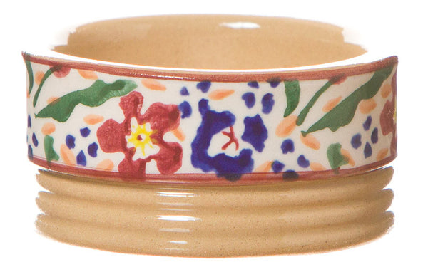 Butterpat Wild Flower Meadow spongeware pottery by Nicholas Mosse Pottery - Ireland - Handmade Irish Craft.