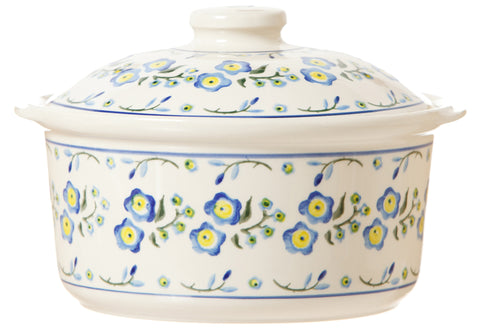 CASSEROLE DISH FORGET ME NOT
