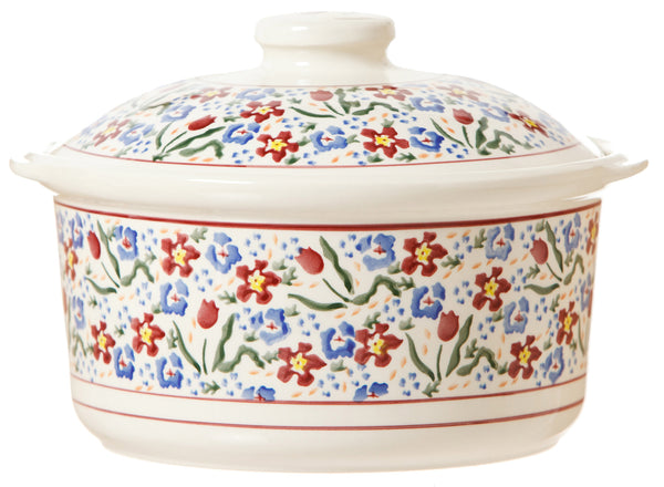 CASSEROLE DISH WILD FLOWER MEADOW
