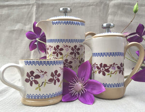 Nicholas Mosse Large Cafetiere Clematis