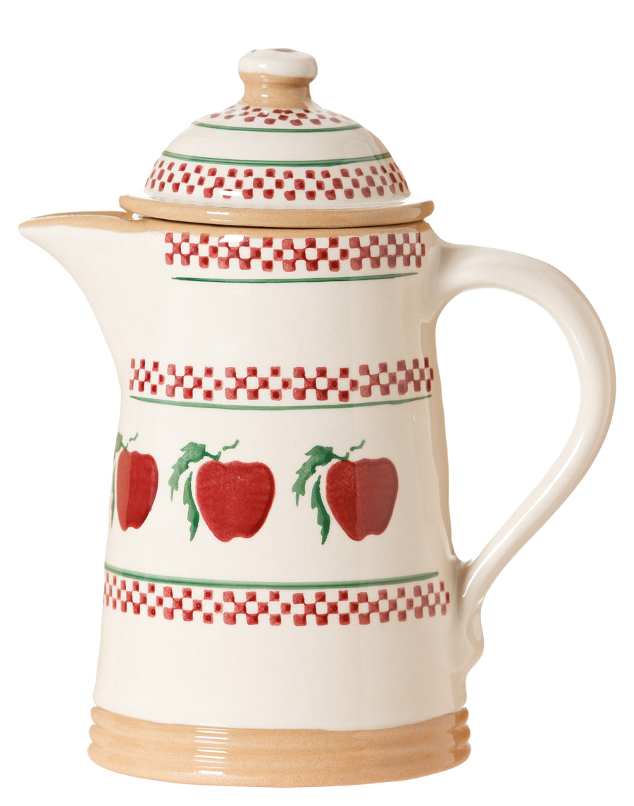 Coffee pot Apple spongeware pottery by Nicholas Mosse Pottery - Ireland - Handmade Irish Craft