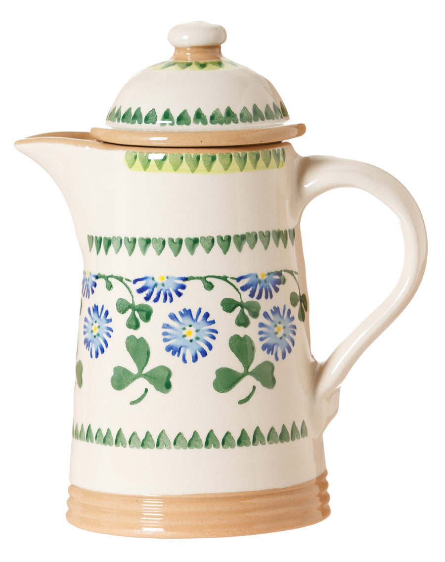 Coffee pot Clover spongeware pottery by Nicholas Mosse Pottery - Ireland - Handmade Irish Craft