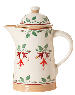 Coffee pot Fuchsia spongeware pottery by Nicholas Mosse Pottery - Ireland - Handmade Irish Craft