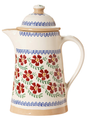 Coffee pot Old Rose spongeware pottery by Nicholas Mosse Pottery - Ireland - Handmade Irish Craft