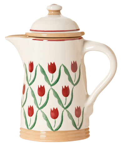 Coffee Pot Red Tulip