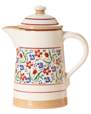 Coffee pot Wild Flower Meadow spongeware pottery by Nicholas Mosse Pottery - Ireland - Handmade Irish Craft