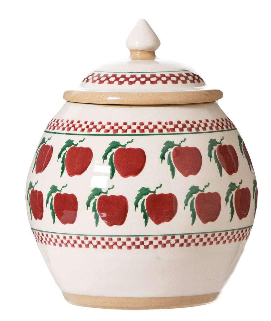 Cookie Jar Apple spongeware pottery by Nicholas Mosse Pottery - Ireland - Handmade Irish Craft.