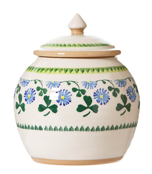 Cookie Jar Clover spongeware by Nicholas Mosse Pottery - Ireland - Handmade Irish Craft.