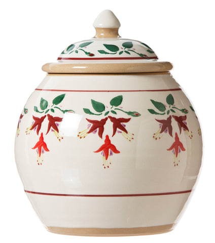 Cookie Jar Fuchsia spongeware by Nicholas Mosse Pottery - Ireland - Handmade Irish Craft.