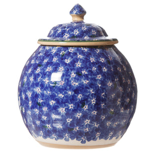 Cookie Jar Lawn Dark Blue spongeware by Nicholas Mosse Pottery - Ireland - Handmade Irish Craft.