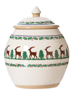 Cookie Jar Reindeer spongeware by Nicholas Mosse Pottery - Ireland - Handmade Irish Craft.