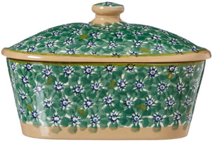 Covered Butterdish Lawn Green