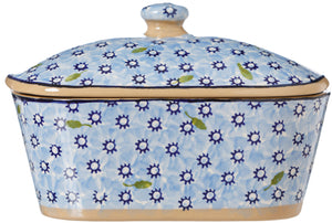 Covered Butterdish Lawn Light Blue Nicholas Mosse Pottery handcrafted spongeware Ireland